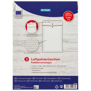 Stylex Luftpolstertaschen - Gr. 14 - 20 x 27 cm - 2...