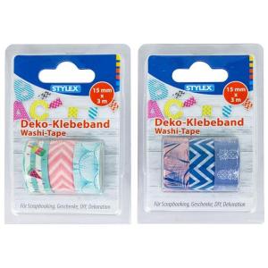 Stylex Deko-Klebeband - 3 Rollen - 15 mm x 3 m - 2...