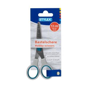 Stylex Bastelschere - 13 cm - abgerundete Spitze - farbig...