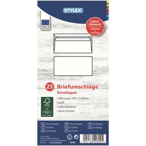 Stylex Briefumschläge - DIN lang - selbstklebend -...