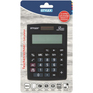 Stylex Taschenrecher Alpha - 8,5 x 12 cm