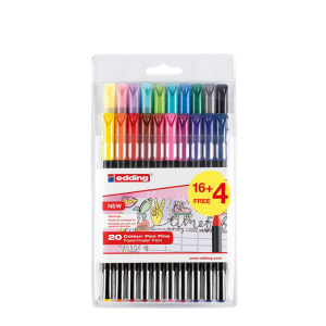 edding 1200 colour pen fine Fasermaler - 1 mm - 20er Set