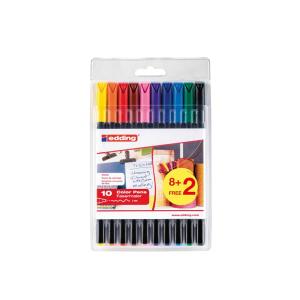 edding 1200 colour pen fine Fasermaler - 1 mm - 10er Set