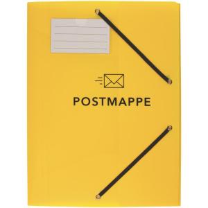 Stylex Postmappe - DIN A4 - PP - mit Gummizug - gelb