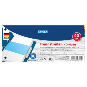 Stylex Trennstreifen - 10,5 x 24 cm - 4 Farben - 40...