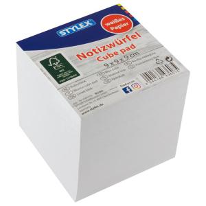 Stylex Notizwürfel - 9 cm - weiß - 1000 Blatt