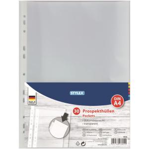 Stylex Prospekthüllen - DIN A4 - 30 Stück