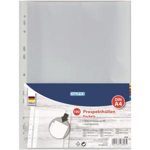 Stylex Prospekthüllen - DIN A4 - 100 Stück