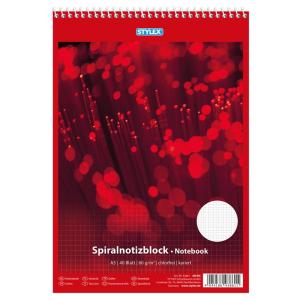 Stylex Spiral-Notizblock - DIN A5 - kariert