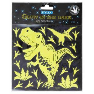 Stylex Motiv-Sticker Dino - Glow in the Dark - 19 Stück