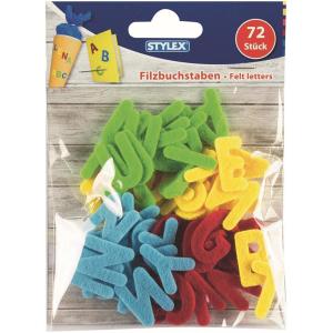 Stylex Filz-Buchstaben - farbig - 72 Stück