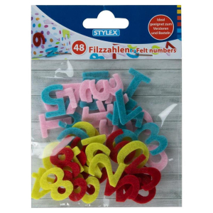 Stylex Filz-Zahlen - farbig - 48 Stück