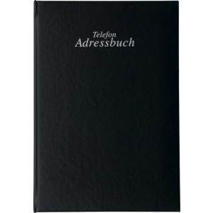 Stylex Telefon-Adress-Ringbuch - A-Z - 15 x 22 cm - schwarz