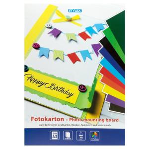 Stylex Fotokartonblock - DIN A3 - 10 Farben
