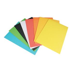 Stylex Bastel-Wellpappe - DIN A4 - 8 Bögen - farbig