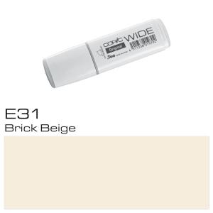 COPIC Wide Marker E31 - Brick Beige