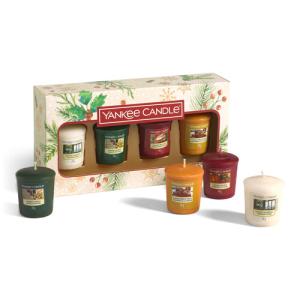 Yankee Candle Geschenkset mit 4 Votiv-Kerzen