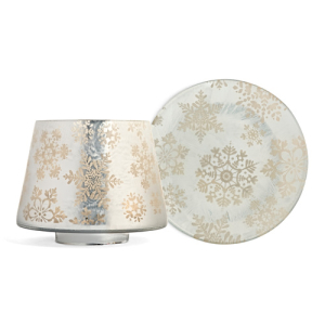 Yankee Candle Snowflake Frost Large Shade & Tray Set