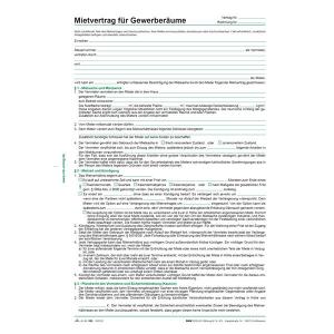 RNK Mietvertrag Gewerberaum DIN A4 6 Seiten