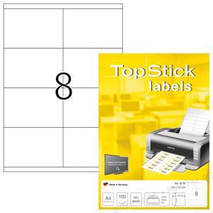TopStick 8770 Etiketten - 105 x 70 mm - weiß - 800...
