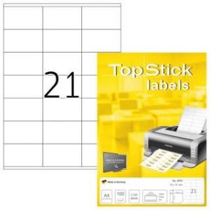 TopStick 8707 Universal-Etiketten - 70 x 41 mm - weiss -...