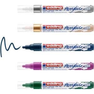 edding 5100 - Acrylmarker - medium - 5er-Set - festlich