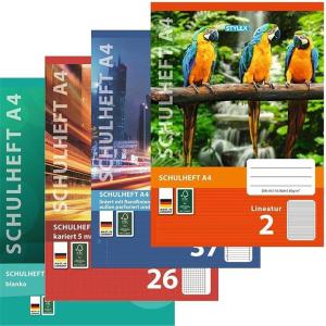 Stylex Schulheft - DIN A4 - 16 Blatt
