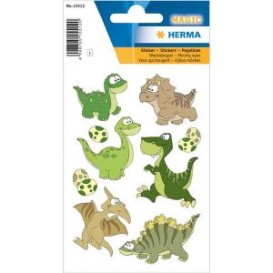 Herma 15512 MAGIC Sticker - Dinokinder - mit Wackelaugen...