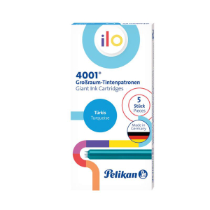 Pelikan 4001 ilo Tintenpatrone - türkis - 5 Stück