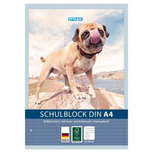 Stylex Schulblock - DIN A4 - 50 Blatt